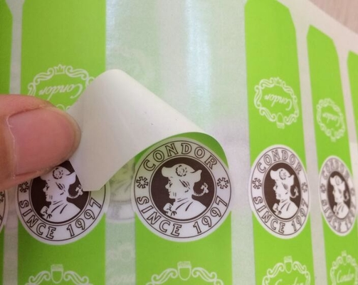 China Screen Printing Self Adhesive Sticky Labels For Plastic Bottles Eco Friendly supplier