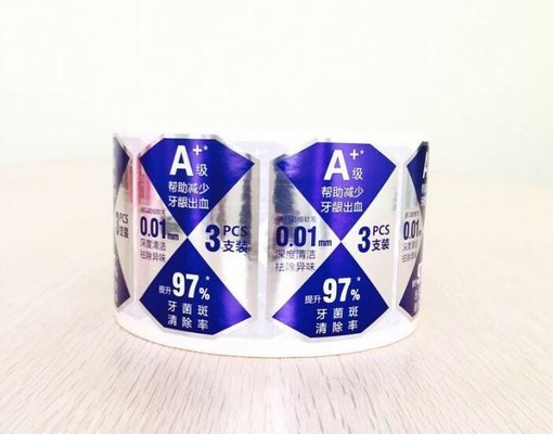 Toothpaste Self Adhesive Labels Custom Size With Durable Offset Printing