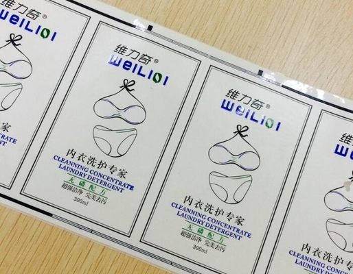 China Strong Adhesive Sticker Labels , Full Color Cosmetic Plastic Bottle Labels Roll supplier