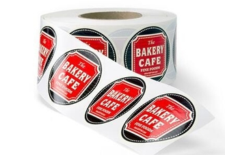 Matte Chrome Bopp Labels , Custom Roll Label Stickers For Coffee Packaging