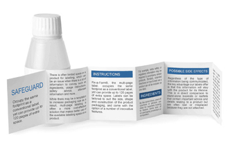 Oil Proof Multi Layer Labels / Page Labels With Freezer Grade Adhesive