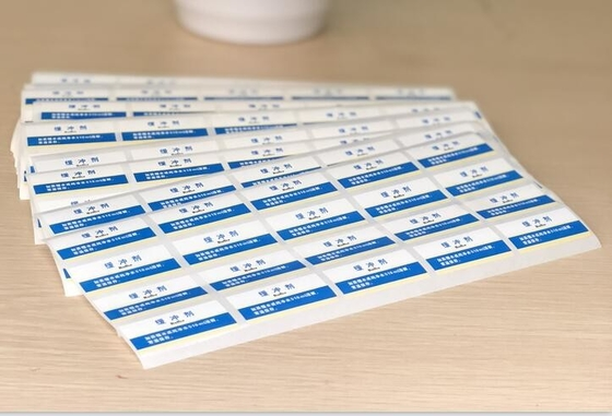 Custom Film Removable Adhesive Labels Sheets With Easy Torn Off
