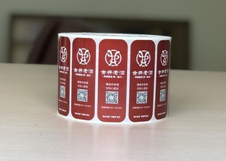 Adhesive Double Layer Labels Books Type For Cosmetics / Plastic Bottles