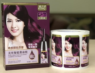 Packaging Adhesive Metallic Product Labels For Shampoo Bottle Label Printing