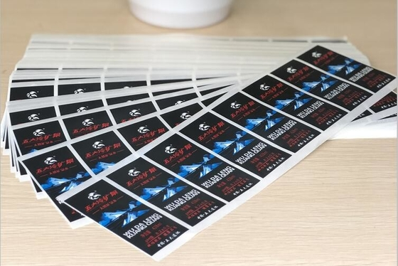 Waterproof / Beverage Water Bottle Labels , Square Adhesive Juice Bottle Sticker