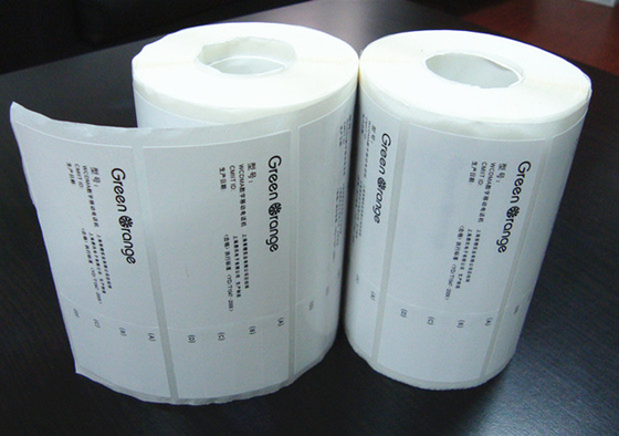 Adhesive Blank Sticker Labels , Permanent Thermal Transfer Labels