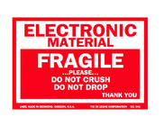 OEM Coated Paper Electrical Warning Labels Anti Oil With Glossy Lamination