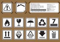China Non Toxic Logistic Labels , Waterproof Design Shipping Address Label company