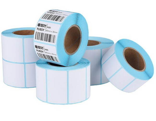 Blue Glassine Paper 62G 500m Direct Thermal Transfer Labels