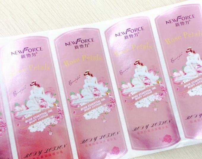 Waterproof Self Adhesive Product Labels Printing For Shampoo Bottle